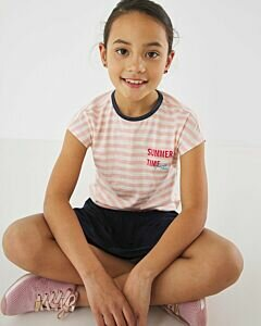 Mexx T-shirt with soft pink stripes