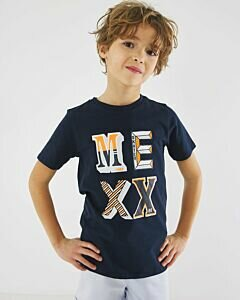 Navy-T-shirt-with-Mexx-print-