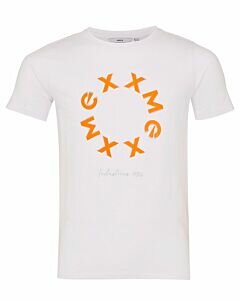Mexx White T-shirt with neon print