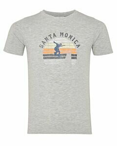 Mexx T-shirt with happy print grey melee