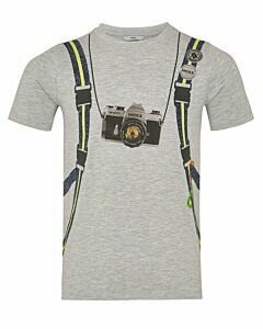 Mexx Grey melee T-shirt with print