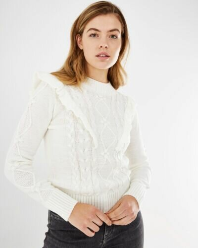 Mexx Cable Knit Off White