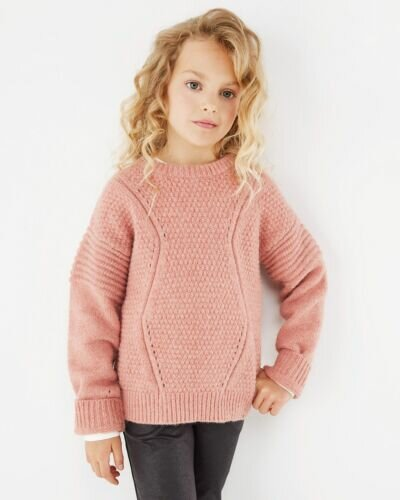 Mexx pink cable knit pullover for girls