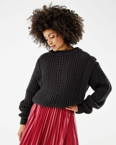 Mexx Pullover Sweater Cable Black