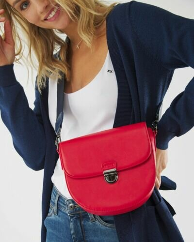 Saddle Bag Red With Strap