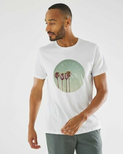 T-shirt with digital photoprint white