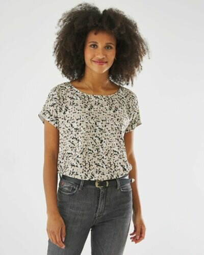 Blouse Sand With Print