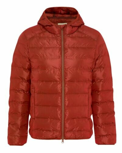 Hooded puffer jacket Red