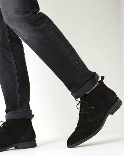 Mexx Harjan lace-up shoe black suede for men
