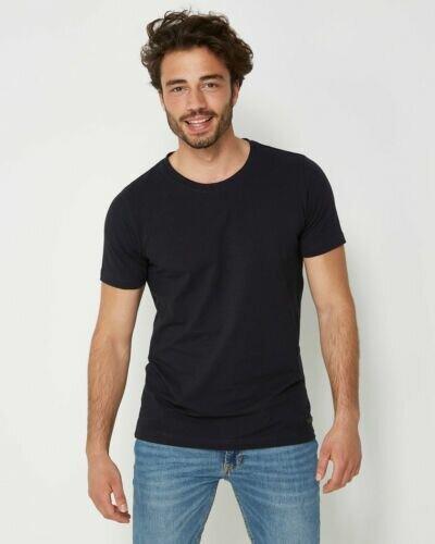 Men T-Shirt Round-Neck Navy