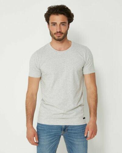 Graues Rundhals-T-Shirt für Männer