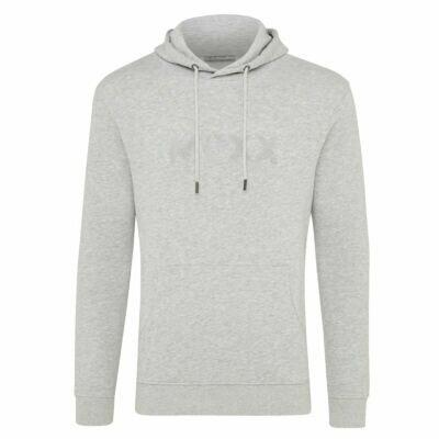 Grey Melange Hoody with Embroidery Men