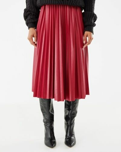 Mexx Pleated Skirt Wine Red