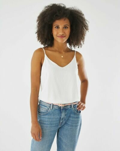 Blouse With Thin Straps Off white