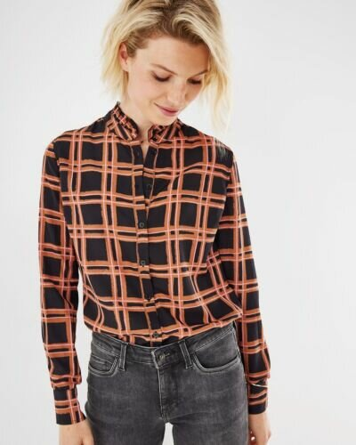 Mexx Black and brown  checked blouse