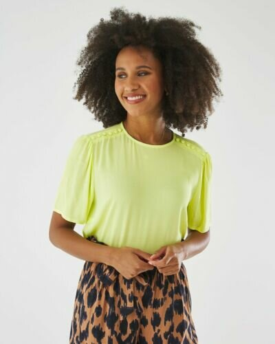 Blouse Lime With Buttons