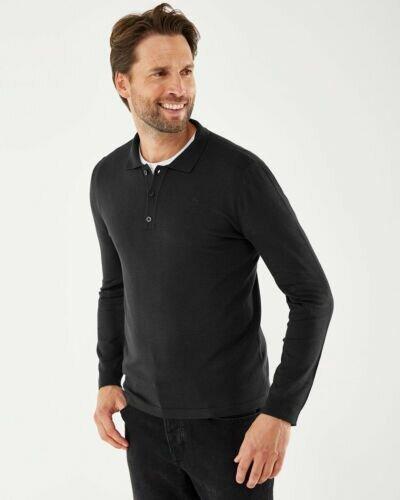 Tylor Polo Long Sleeve Black