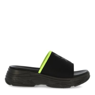 Slipper-Enola-Black/Fluo-Yellow