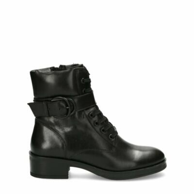 Bikerboot-Daley-Zwart
