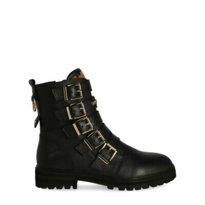 Bikerboot-Dido-Black/-Brown