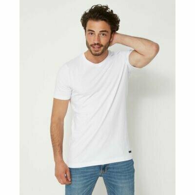 Weißes-T-Shirt-mit-Rundhalsschnitt-für-Männer