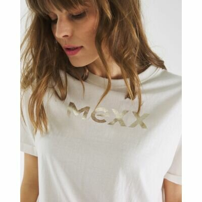 T-shirt With Mexx Logo in Off White