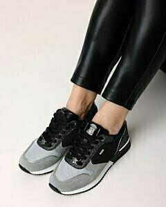 Sneaker Hilly grijs/zwart