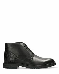 Mexx black lace-up shoe for men croco printed back