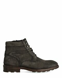 Mexx grey lace-up boot for men suede