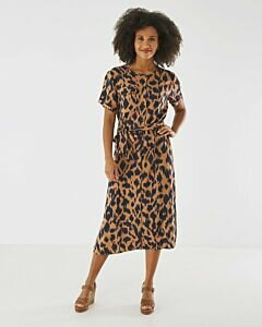 Dress Brown With Print