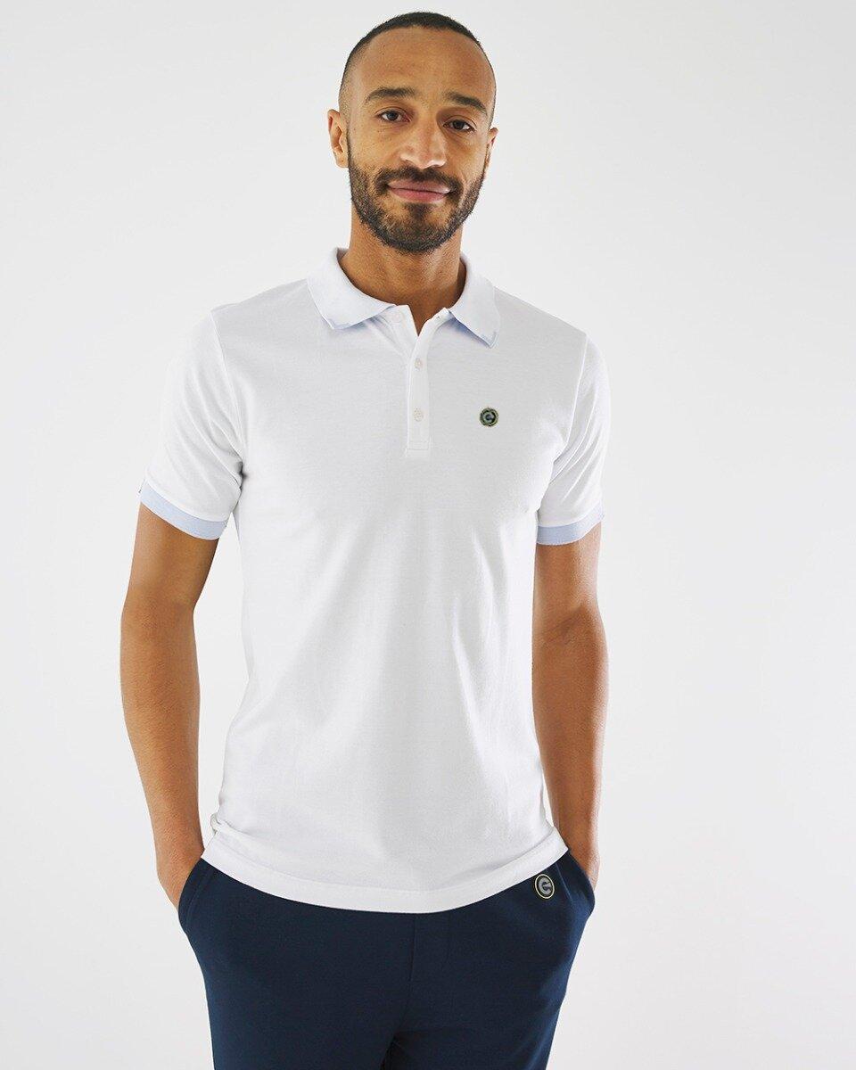 Witte Pique Polo
