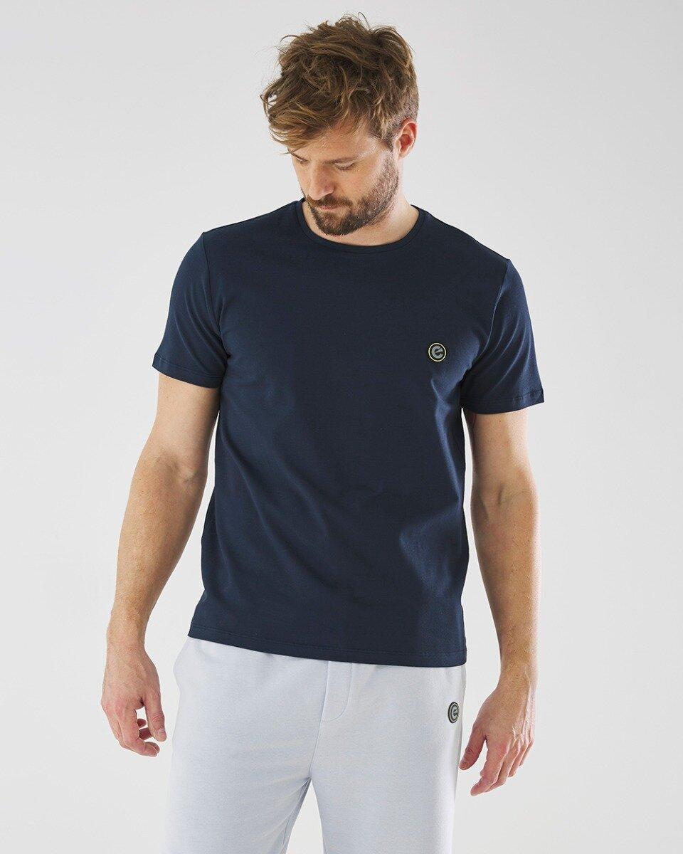 Geprint T-shirt Donkerblauw