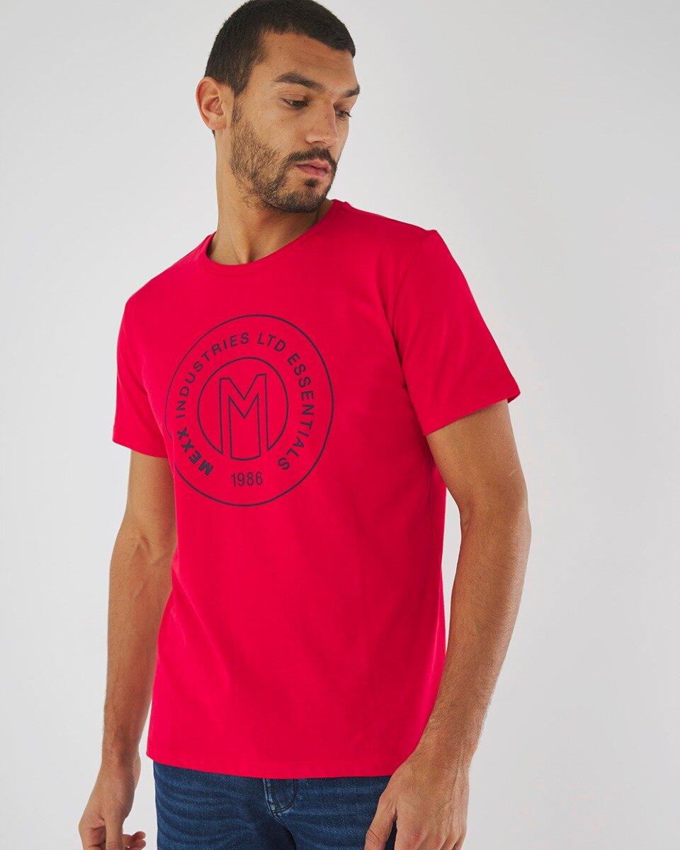 T-shirt Met Logo Print Rood
