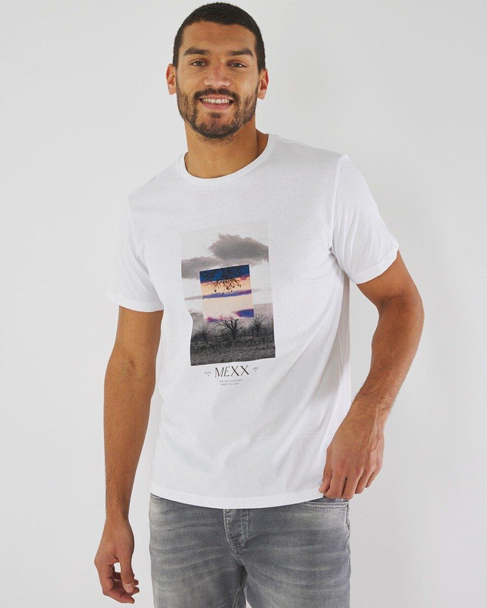 T-shirt met fotoprint wit