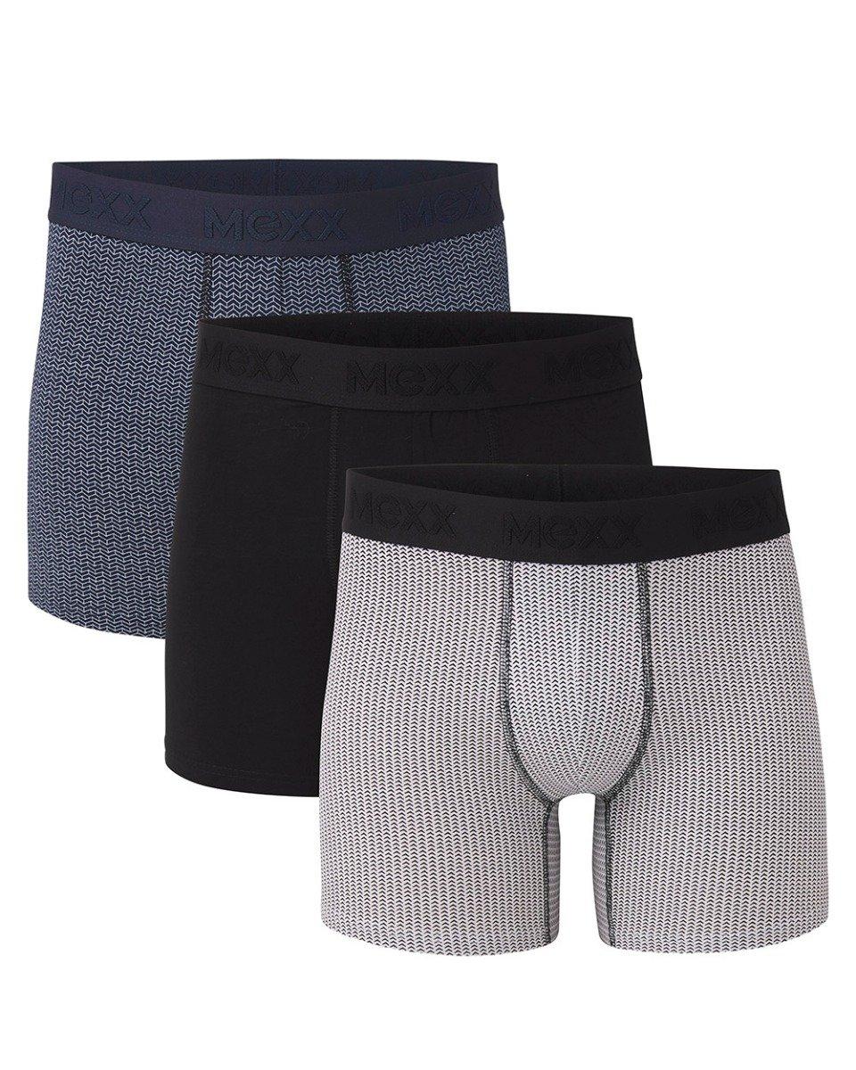 Boxers 3-pack zwart / navy / grijs