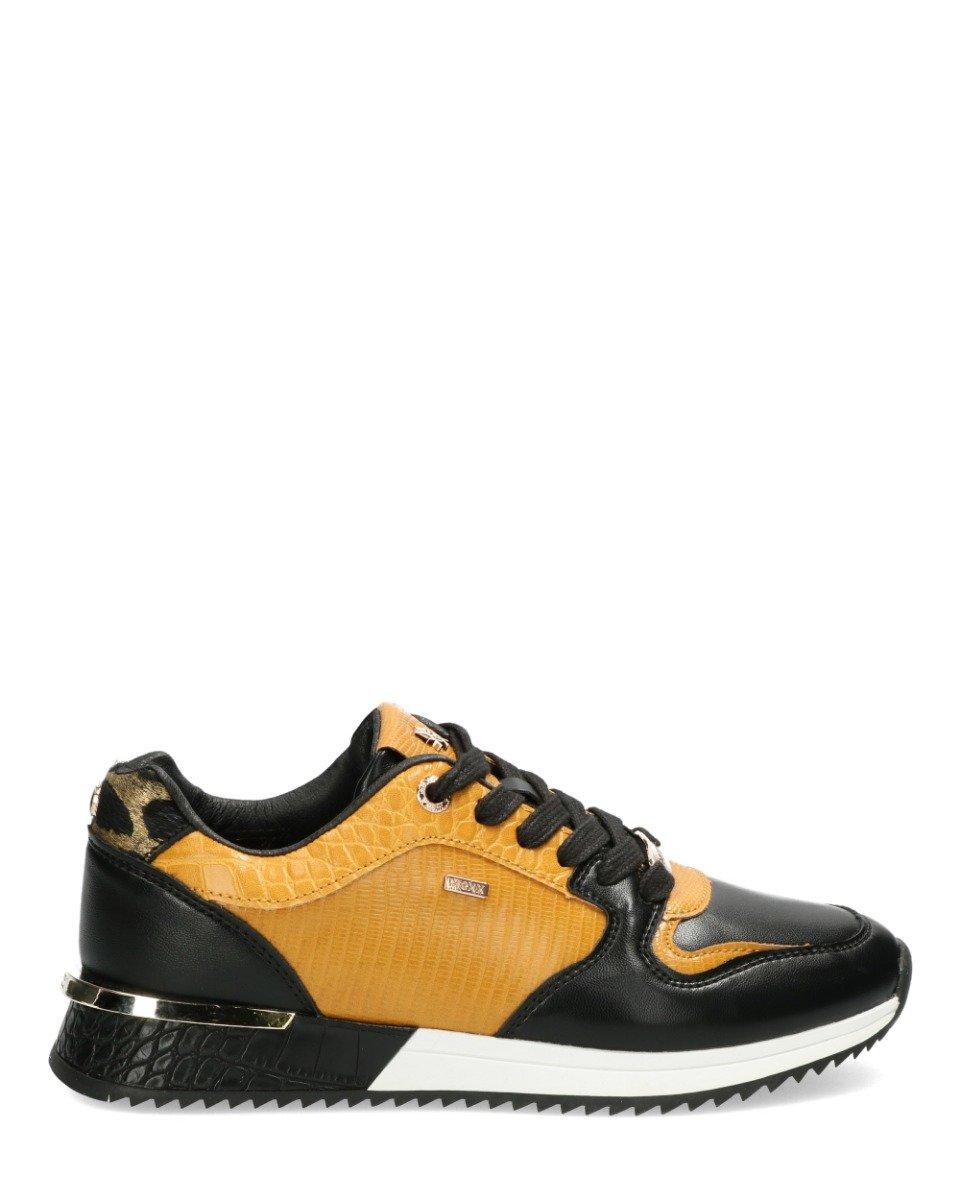 Sneaker Fleur Zwart/Geel
