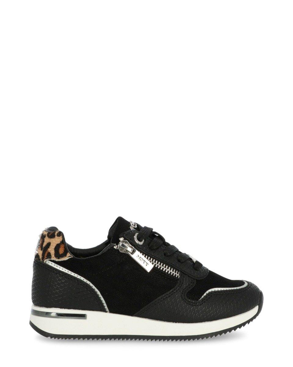 Sneaker Froukje Zwart/Cognac