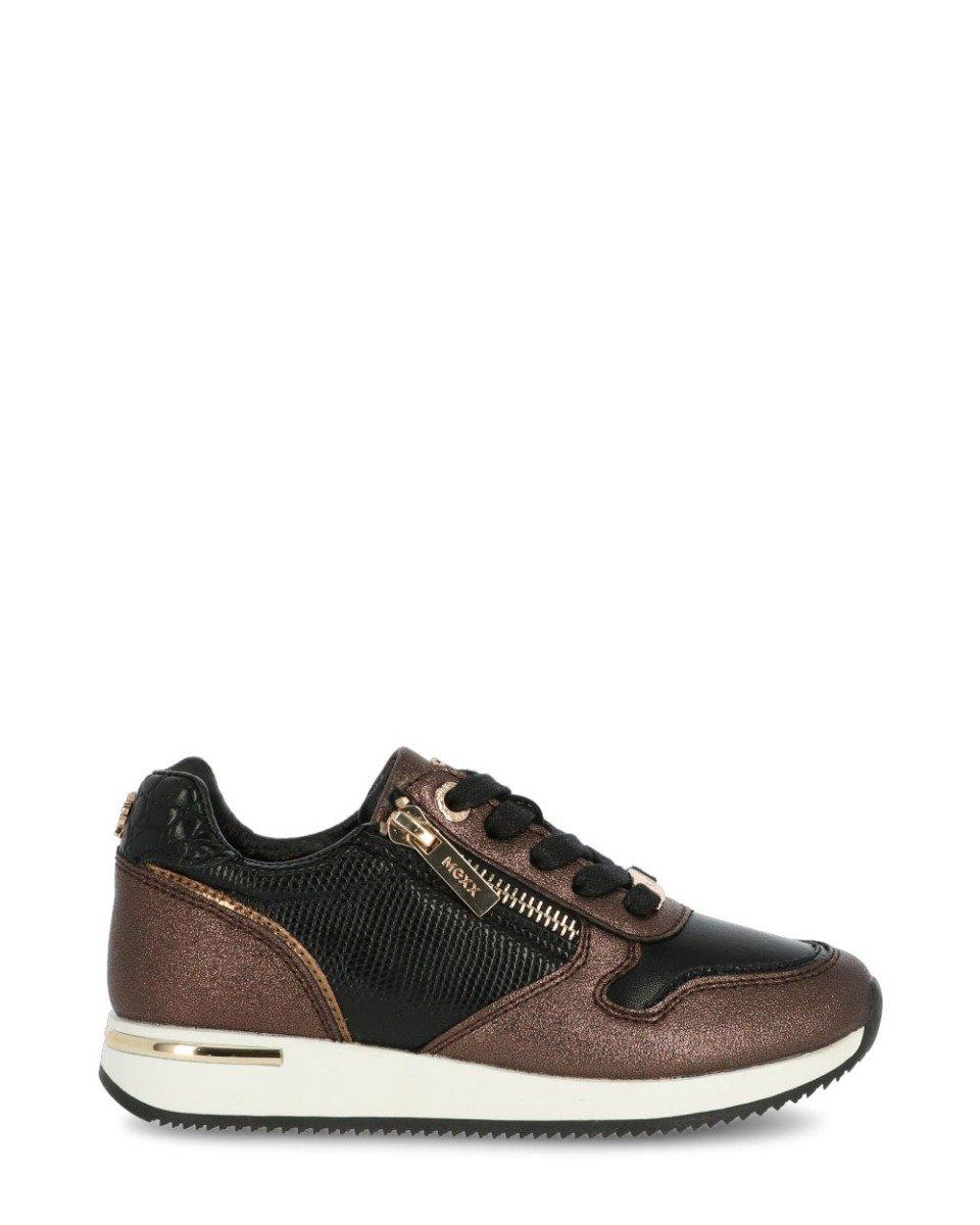 Sneaker Froukje Bruin/ Zwart