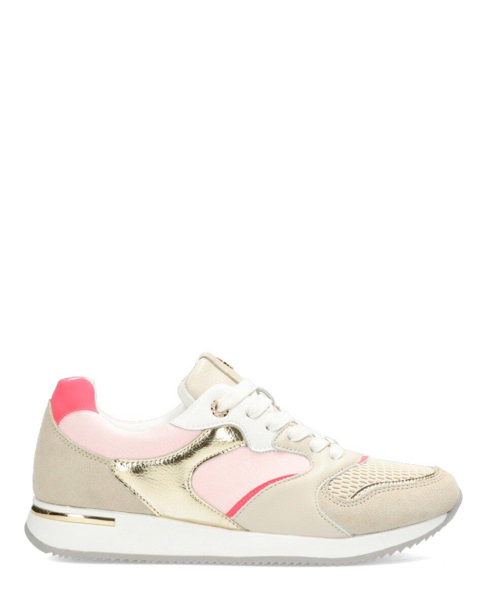Sneaker Gemma Beige/Roze