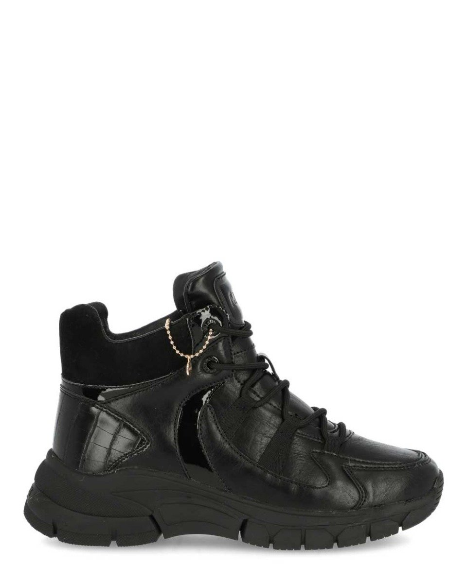 Hoge Sneakers Fem Zwart