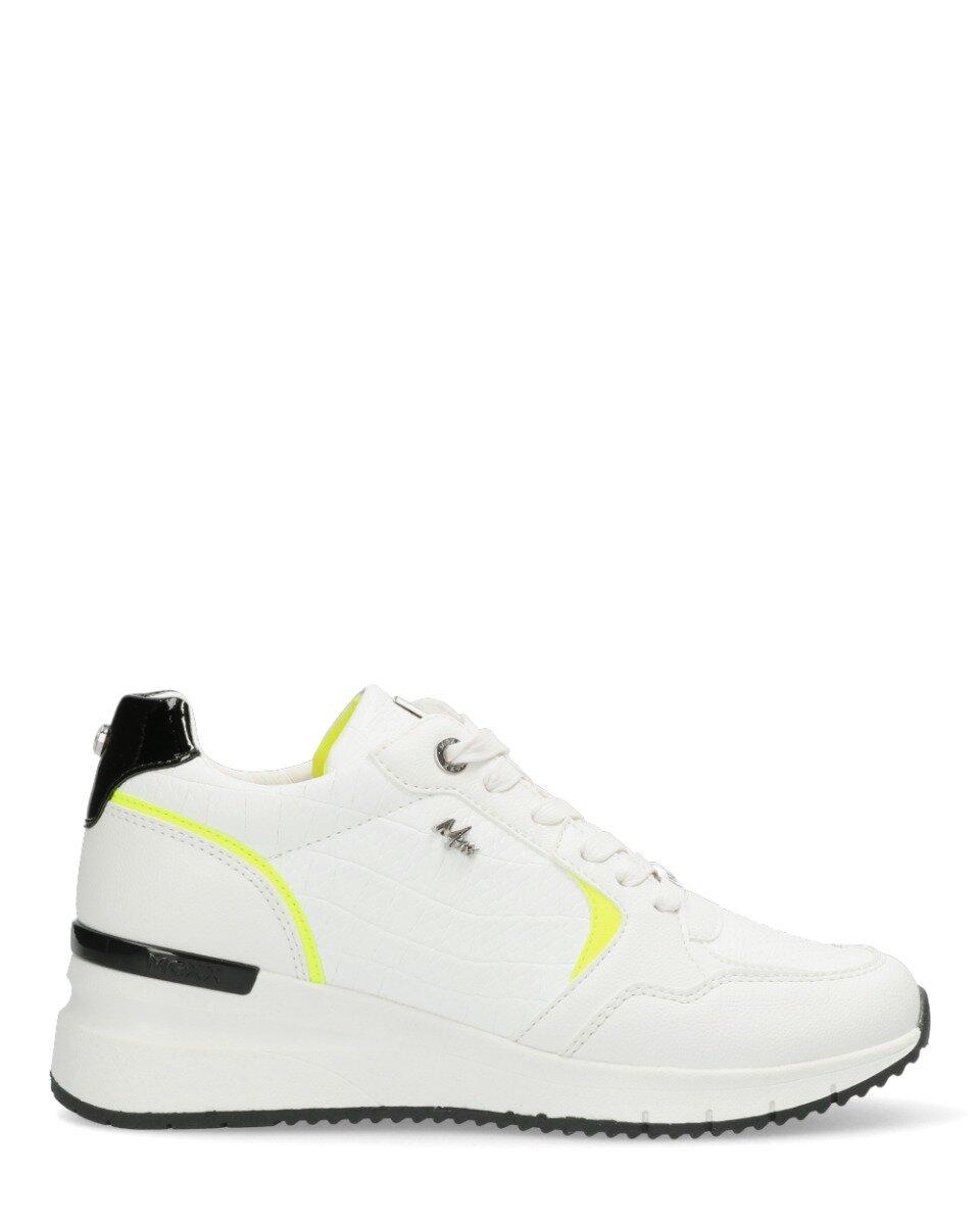 Sneaker Gena Wit/Neon Geel