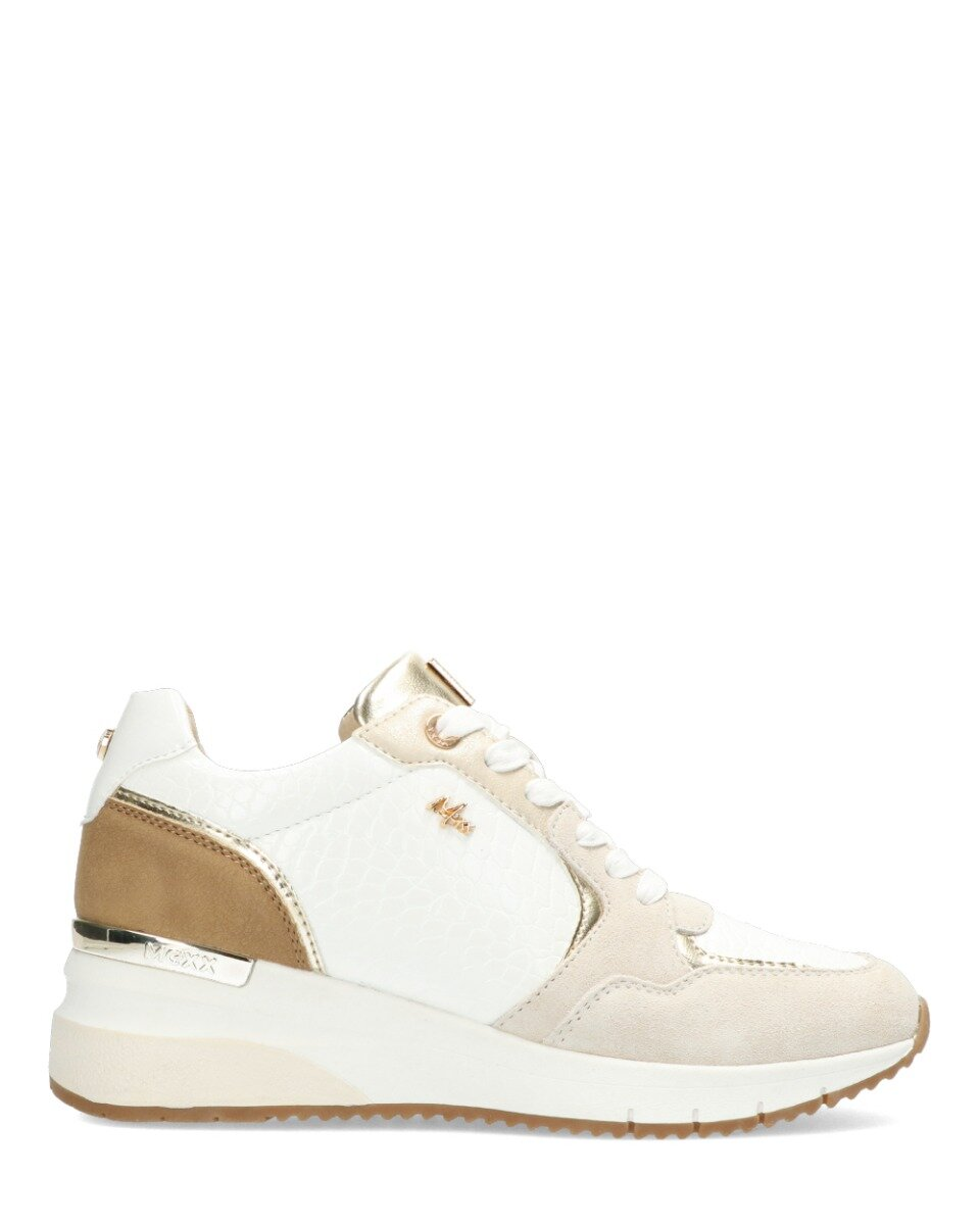 Sneaker Gena Wit/Taupe