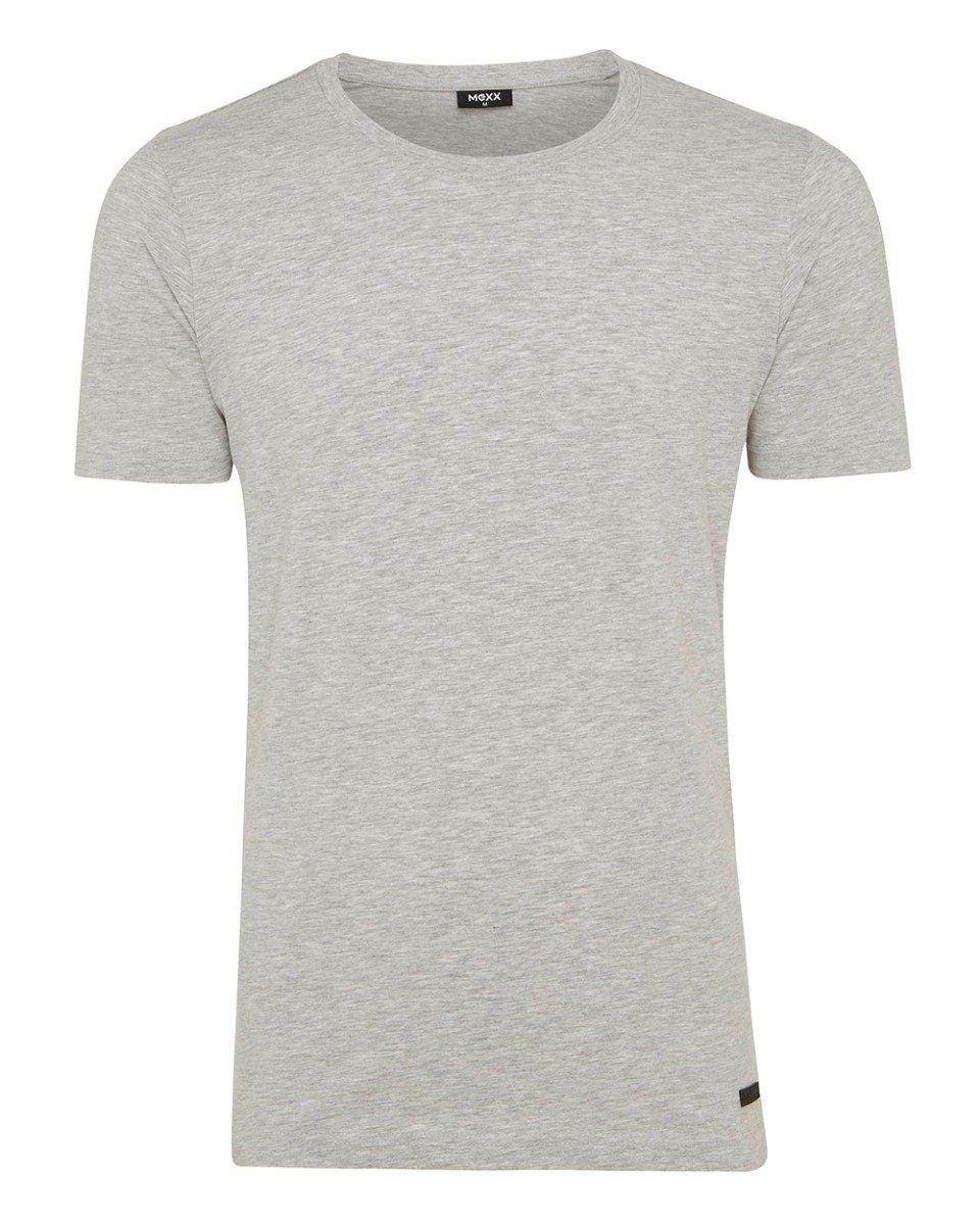 Grijs heren T-shirt met ronde hals