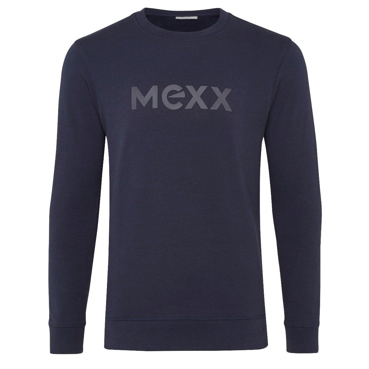 Donkerblauwe Sweater met HD Print Heren