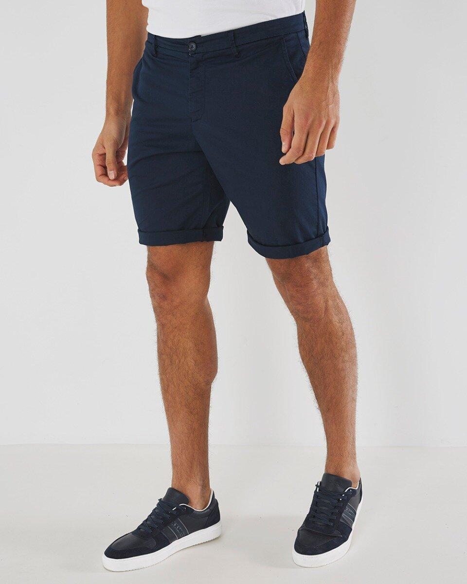 Chino Short Donkerblauw