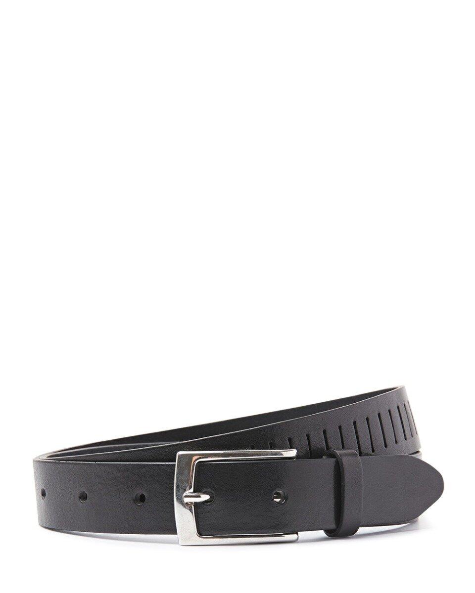 Sliced in belt Black