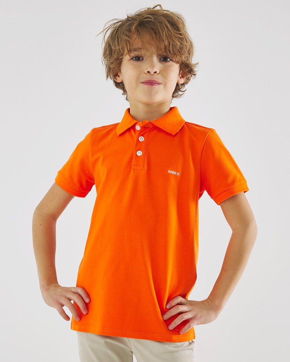 Polo neon oranje