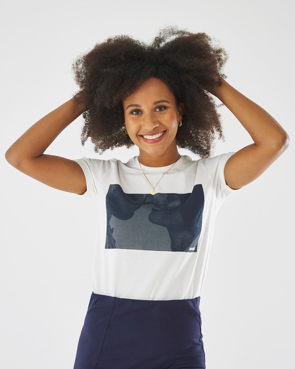T-shirt''it all started with a kiss''Met Fotoprint