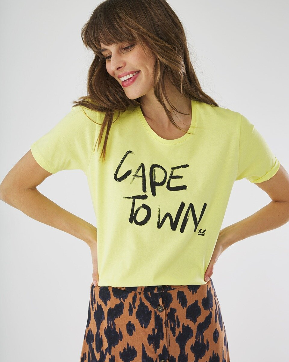T-shirt cape town lime groen