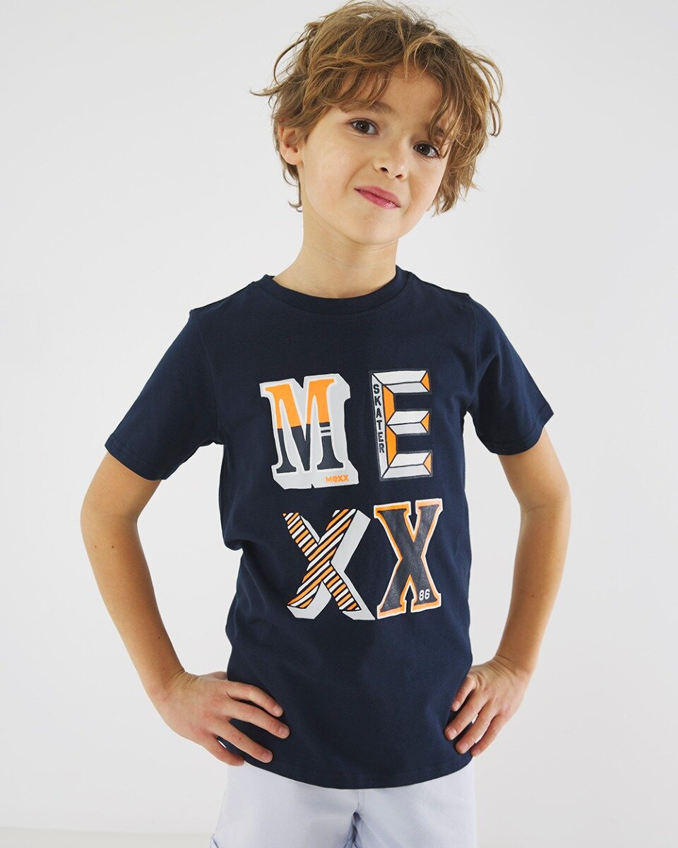 Donkerblauw T-shirt met Mexx print